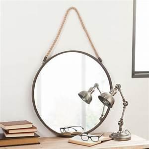 Miroir Rond à Suspendre : miroir rond maison du monde id es de d coration ~ Teatrodelosmanantiales.com Idées de Décoration