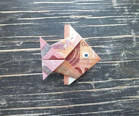 fisch falten aus geldschein einfache anleitung
