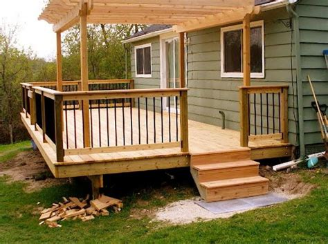 small decks with pergolas best 50 yard and decks images on pinterest other