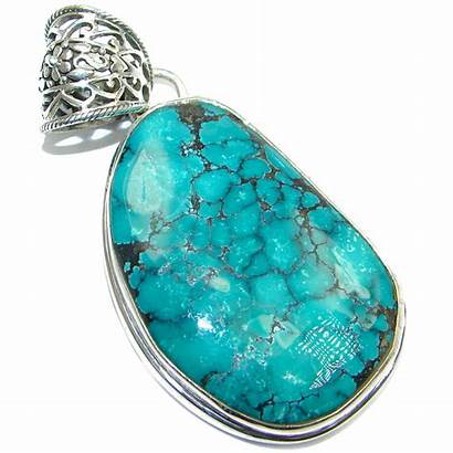 Pendant Handmade Silver Turquoise Sterling Genuine Silverrushstyle