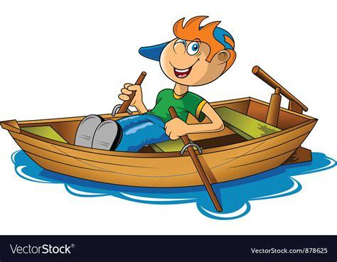 Row En Boat by Rowing Boat Royalty Free Vector Image Vectorstock
