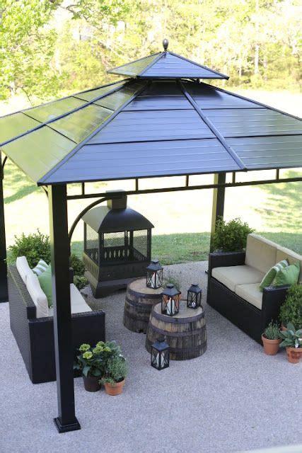 lowes spring makeover reveal patio paradise backyard gazebo patio gazebo garden gazebo