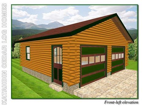 Garage B   Katahdin Cedar Log Homes Floor Plans