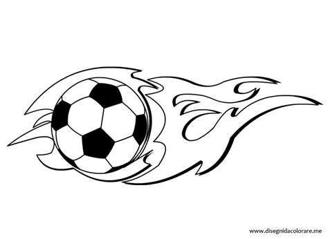 disegni di calcio da colorare pallone calcio con fiamma da colorare disegni da colorare