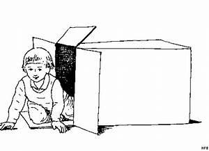 Baby In Einem Karton Ausmalbild Malvorlage Sonstiges