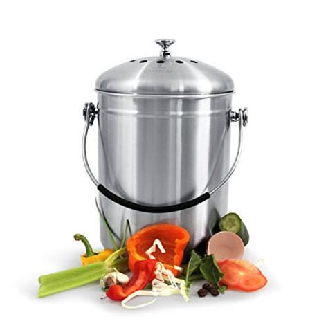 compost bin kitchen pail indoor outdoor countertop food trash fertilizer compost bin for kitchen countertop insteading