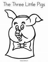 Pigs Three Coloring Pig Built California Usa sketch template