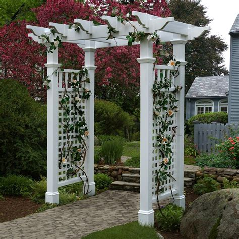 arbor prices new england arbors va84228 fairfield arbor with trim lowe s canada