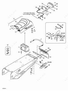 Ski Doo 2002 Mach Z -  Seat And Accessories