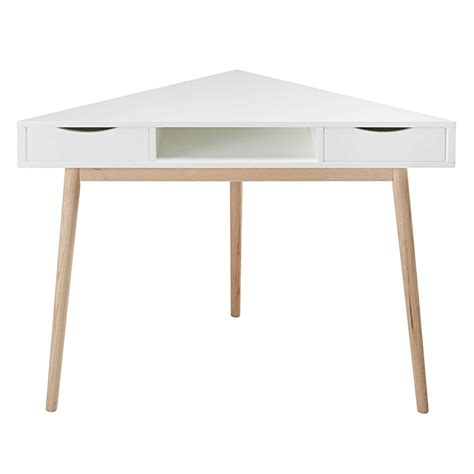 bureau dangle bureau d 39 angle vintage blanc artic maisons du monde