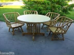 ficks reed dining game set chairs faux bamboo rattan