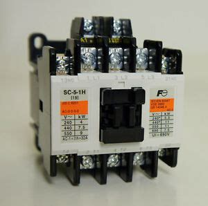 new fuji electric magnetic contactor sc 5 1h ac 200v ith 32a 5 5kw 1a 1b