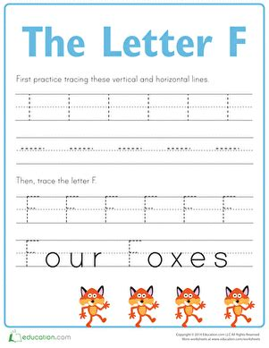 practice tracing the letter f worksheet education