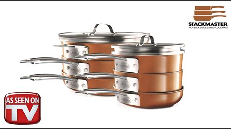 gotham steel stackmaster space saving nonstick stackable cookware commercial chefazon