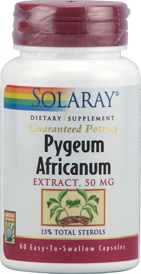 Solaray Pygeum Africanum Extract 50 mg  60 Capsules