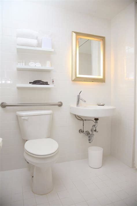 Small Bathroom Make by How To Make A Small Bathroom Feel Larger Popsugar Home
