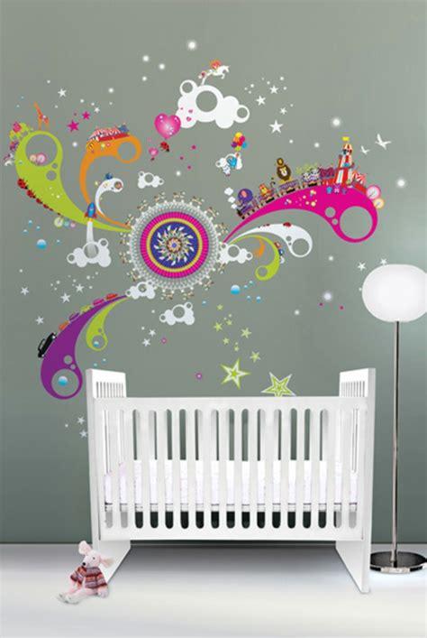 chambre mur vert la décoration murale chambre bébé comment faire pour