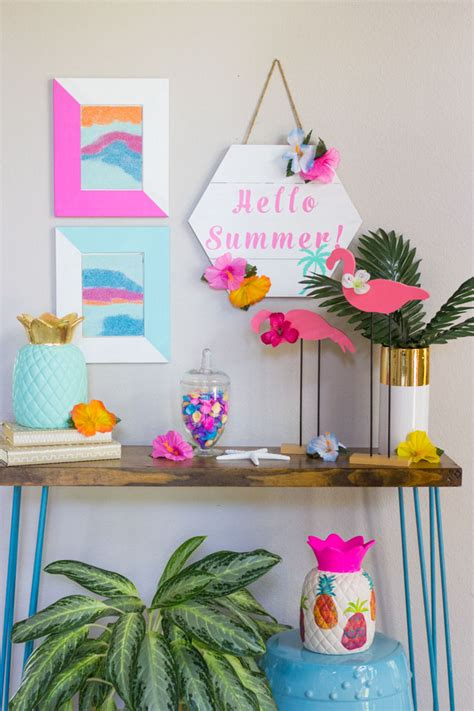 summer diy tropical decor ideas design improvised