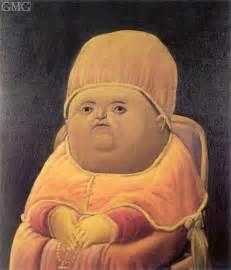 Fernando Botero Paintings Pope