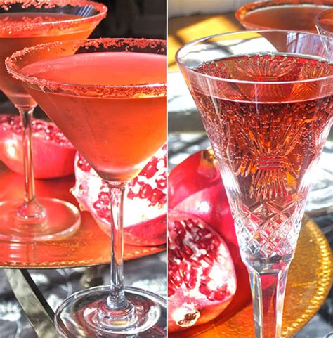 easy thanksgiving cocktail recipe pomegranate and prosecco spritzer kitchn
