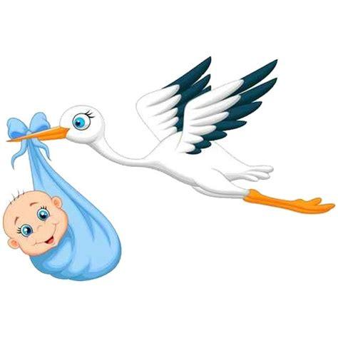 image chambre bebe sticker bébé et cigogne un autocollant adhésif pour