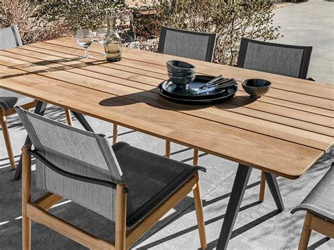 gloster split teak outdoor dining table  henrik pedersen