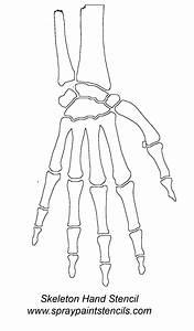 Skeleton, Hand, Stencil