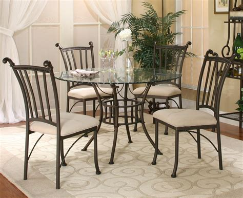 round glass table with 4 chairs cramco inc denali 5 piece round glass table with chairs