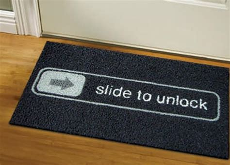Slide To Unlock Doormat by 39 Amazing Ideas That Will Make Your Home Cool And