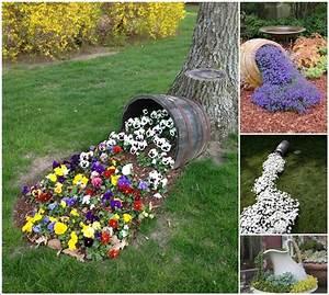 15 idees creatives de parterres de fleurs deversees pour With nice decoration jardin avec galets 14 30 idees creatives avec des galets idee creativeidee