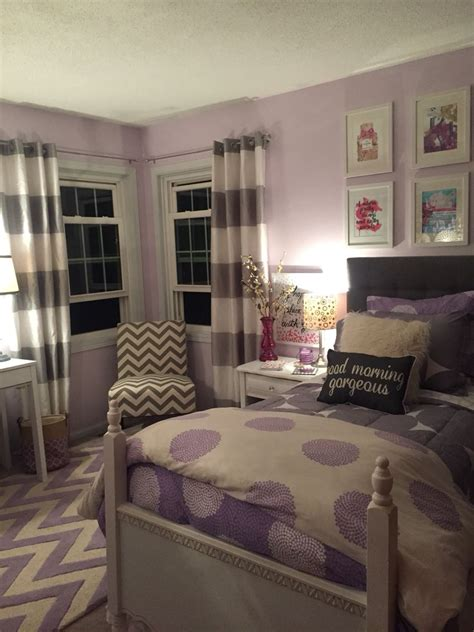 lavender  grey teen bedroom   home girls