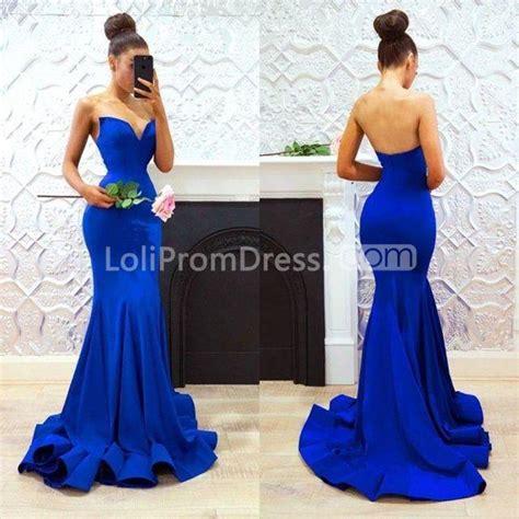 royal blue long prom dresses  mermaid