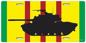 Vietnam Ribbon M48 Patton Tank License Plate-Military Issue