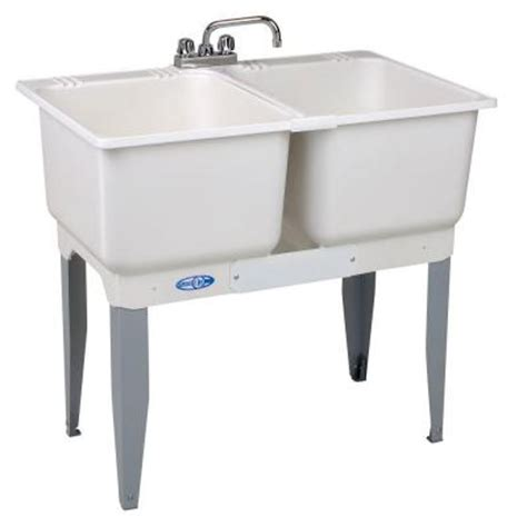 Mustee Utility Sink Home Depot by Mustee 36 In X 34 In Plastic Laundry Tub 22c The Home