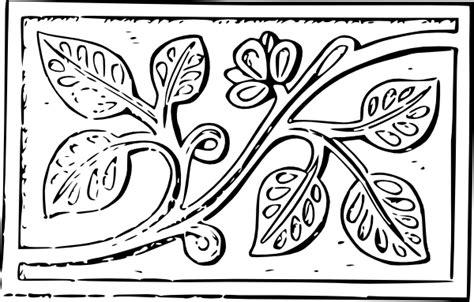 wood carving leaves clip art clkercom vector clip