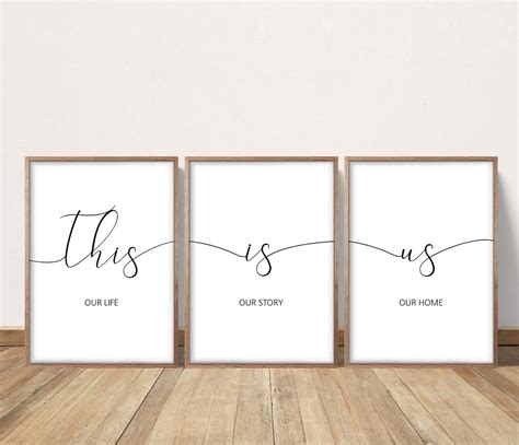 One look at the covetable, spacious home and its modern interiors, and it's clear the. A1 format. This Is Us, Our Life Our Story Our Home Printable, Living Room Wall Art, Home Decor ...