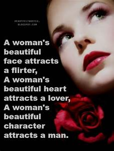 A woman's beautiful face attracts a flirter, A woman's ...