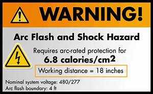 arc flash warning labels and quotworking distancequot bch With arc flash working distance