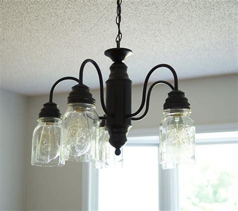 diy jar chandelier spray paint jar chandelier update