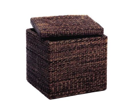sit and store ottoman sit and store with the rush cube storage ottoman from