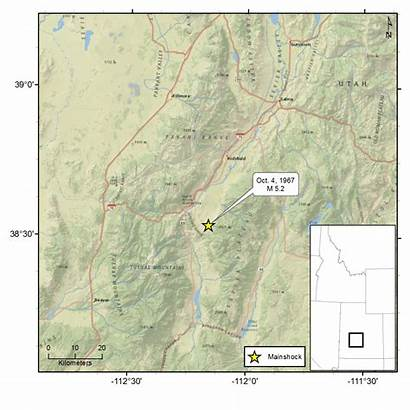 1967 Marysvale Ut Utah Seismic Belt Earthquake