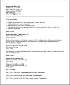 sle resume template word document format of lawyers cv