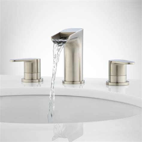 bathroom sink and shower fixtures pagosa widespread waterfall faucet bathroom sink faucets