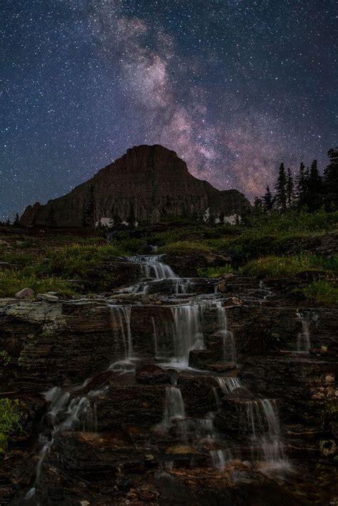 Milky Way Over Mt Reynolds Logan Pass Glacier National