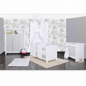 Kleiderschrank Weiß Grau : babyzimmer felix in weis grau 21 tlg mit 3 t rigem kl sleeping bear in weiss baby m bel ~ Buech-reservation.com Haus und Dekorationen