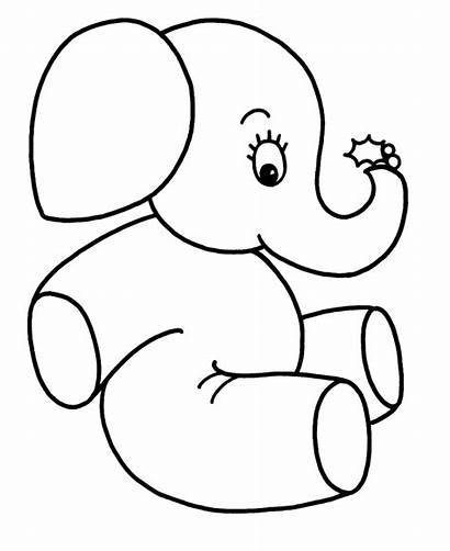 Coloring Easy Pages Elephant