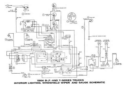 1964 Ford Falcon Wiper Wiring Diagram by Ford B F T Series Trucks 1964 Interior Lighting