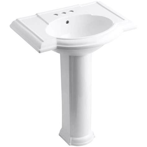 Kohler Devonshire Pedestal Sink by Foremost Series 1920 Pedestal Combo Bathroom Sink In White