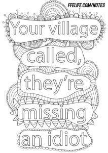 Pin by Vanessa Ditmore on coloring shiit | Swear word coloring
