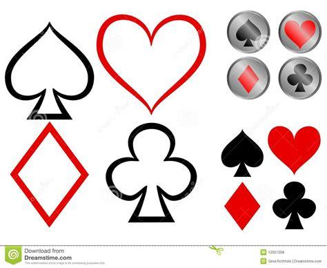 playing card symbols royalty  stock  image